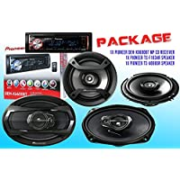 PACKAGE ! Pioneer DEH-X6600BT CD-Receiver + Pioneer TS-A6965R Car Speaker + Pioneer TS-F1634R Car Speakers