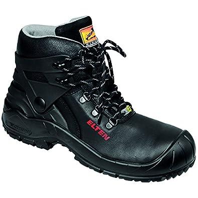Elten - Chaussures De Sécurité En Cuir Pour Les Hommes, Couleur Noire, Taille 40 Eu