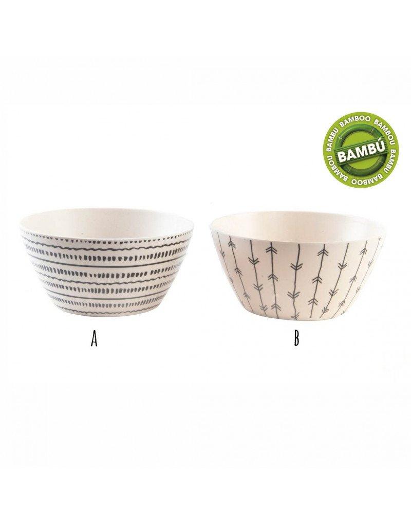 Hogar y más - Bol de bambú reciclado. Ideal para tu cocina. Diseño indie. - B Hogar y Mas