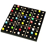 MegaFun USA Color Sudoku Wood Puzzle Game with Mega Marbles