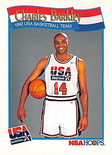 Autographed Barkley Basketball (Charles Barkley Basketball Card (Philadelphia 76ers, Team USA) 1991 Hoops #575)