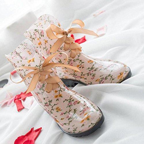 QQnvYUXUE Y&JAXIE Lady tube rain boots/bow tie rain boots/water shoes water shoes sets of shoes 4 28D5XJa