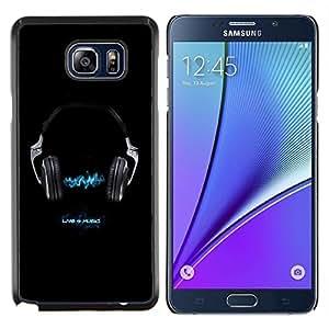 LECELL--Funda protectora / Cubierta / Piel For Samsung Galaxy Note 5 5th N9200 -- Vivo 4 Música --