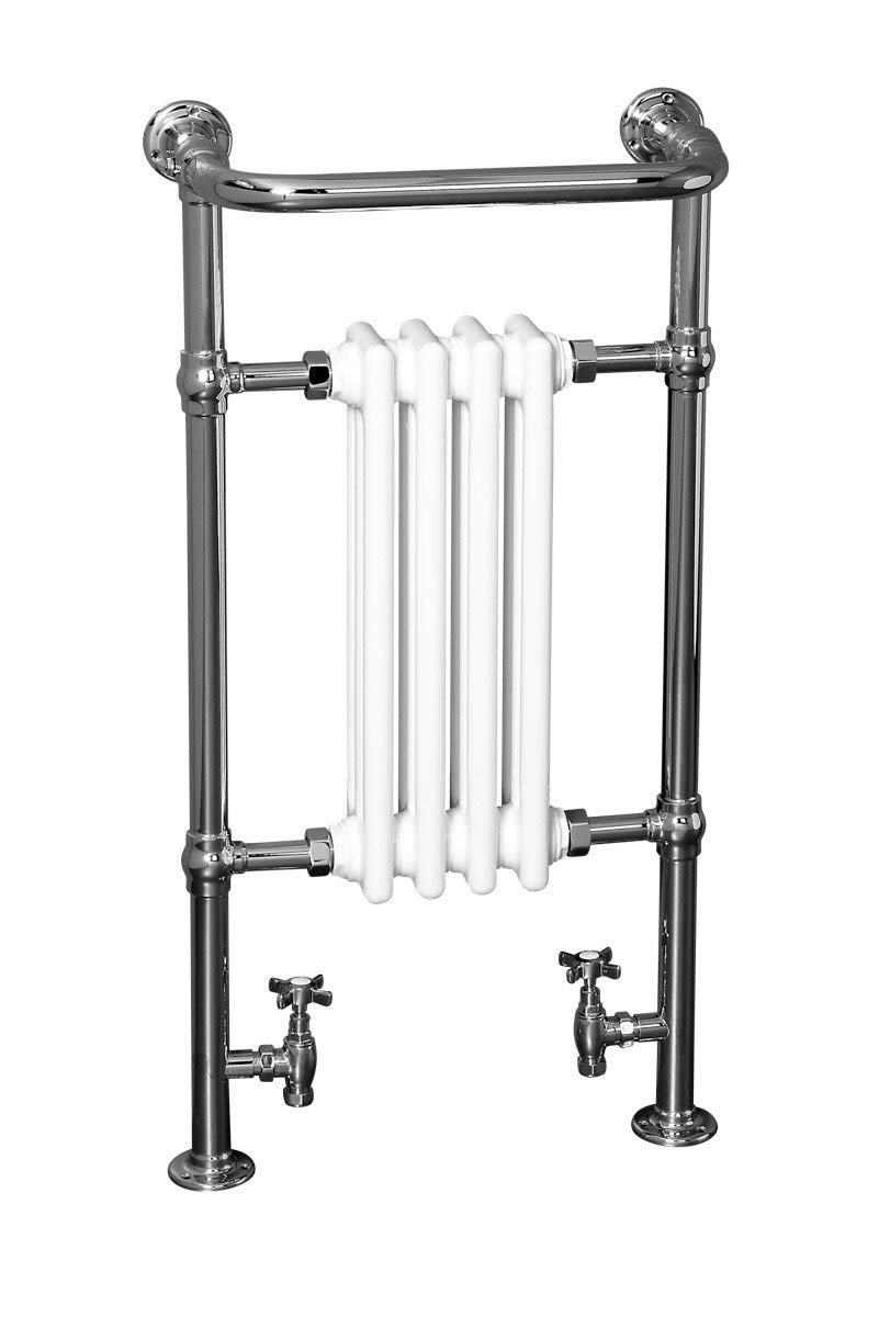 Designer Bathroom Traditional Heated Towel Radiator Rail Warmer 952x659mm Chrome WarmeHaus
