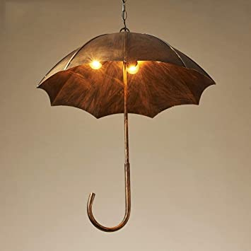 Amazon.com: PLLP - Lámpara de araña con paraguas retro de ...