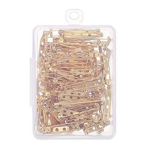2c449f1dc9640 Shappy 100 Pieces Bar Pins Brooch Pin Backs Safety Clasp with ...