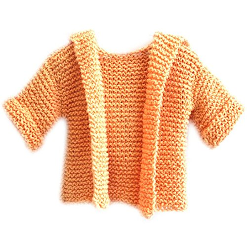 Mountain Wool Knitting Yarn - Happy Baby Hoodie - Learn To Knit Kit With The Video Course, For Absolute Beginners (Lilac)