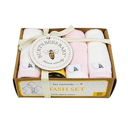 Burt's Bees Baby Organic Washcloth Gift Box, Blossom (Washcloths Organic Burts Bees)