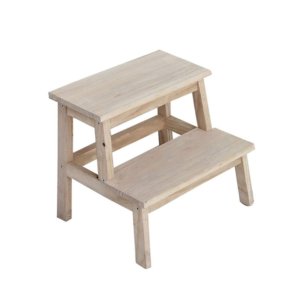 ZXL 2 Step Stool Wood Kitchen Stools Bed Bathroom Step Ladder Made for Children and Adults Toddler Step Stool