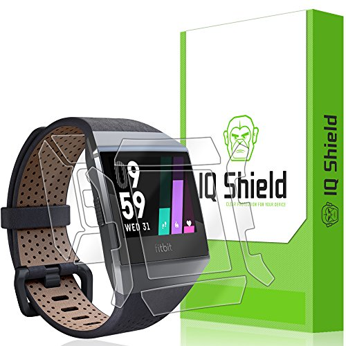 Fitbit Ionic Screen Protector, IQ Shield LiQuidSkin Full Body Skin + Full Coverage Screen Protector for Fitbit Ionic HD Clear Anti-Bubble Film
