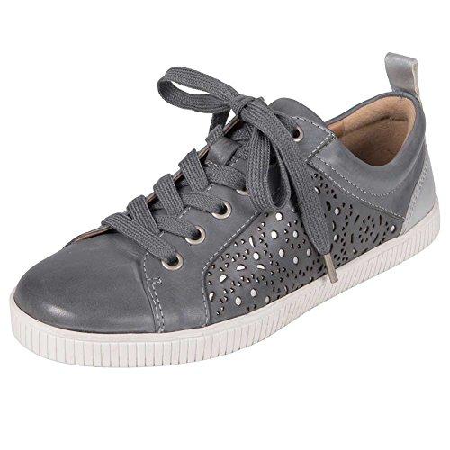 Womens Terra Tangor Sneaker Luce Blu In Pelle Brunita Morbida