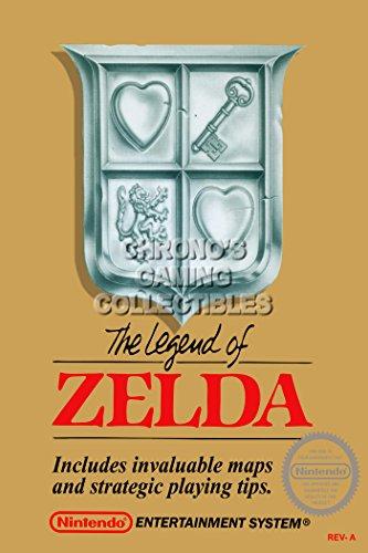 CGC Huge Poster - The Legend of Zelda Original Nintendo Nes Box Art