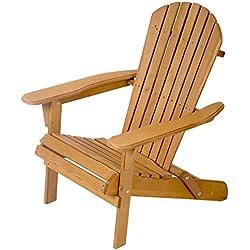 FDW Outdoor Wood Adirondack Chair Garden Furniture Lawn Patio Deck Seat 2000
