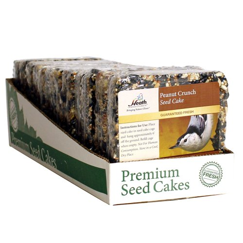 Heath Outdoor Products SC-22 Peanut Crunch Seed Cake, 7-Ounce 12-pack