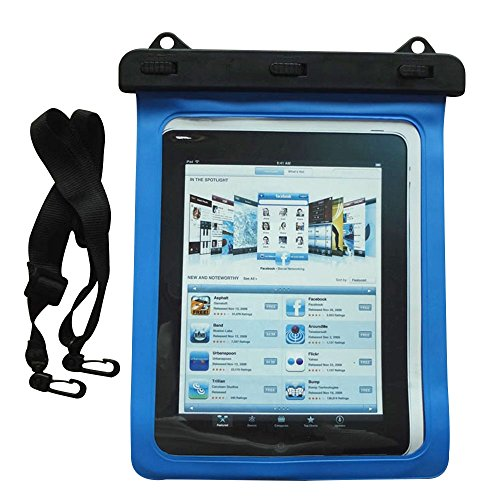 Happy Hours - Universal Waterproof Case for Tablet Up to 10 Inch / Outdoor Sports IPX8 Dry Bag for iPad Pro 9.7, iPad Air / Air 2, iPad 2 / (Halloween Express Sale After Halloween)