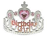 Girls Plastic Birthday Girlz Dress Up Party Tiara Pink