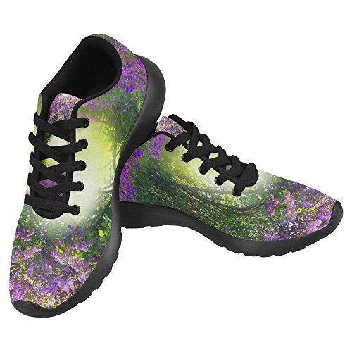Interestprint Femmes Jogging Running Sneaker Léger Aller Facile À Pied Confort Décontracté Chaussures De Course Magie Printemps Forêt Multi 1
