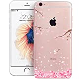 iPhone 5C Cherry Blossom Case, iPhone 5C Phone Case, iPhone 5C TPU Case, Cherry Life Cherry Blossom Pattern Ultra-Thin Soft Gel TPU Silicone Case (Not for iPhone 5S SE)