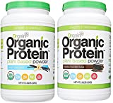 Orgain Organic Plant Based Protein Powder, 3 Flavors, Various Sizes (Vanilla Bean & Chocolate Fudge, 2 X 2.03 Pound)