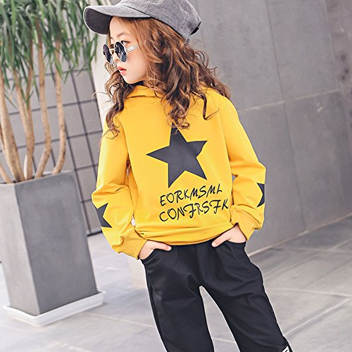 M&A Girls Autumn Casual Hoodie + Pant Set 2 Piece Tracksuit for 5-13T by M&A (Image #4)