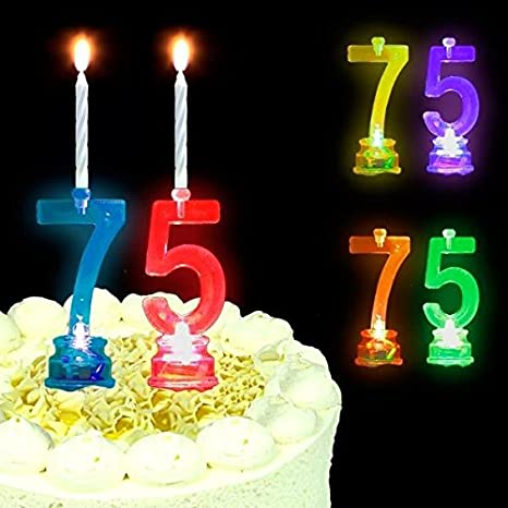 5,5 cm Türkis Deko Zahlen Kerze Geburtstag Kuchen Tortendekoration Kuchenkerze