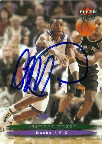 Autograph Warehouse 41974 Desmond Mason Autographed Basketball Card Milwaukee Bucks 2003 Fleer Ultra No. 81 (Mason Autographed Basketball)