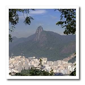 3dRose ht_85682_3 Rio de Janeiro, Brazil, Christ statue - David R. Frazier - Iron on Heat Transfer for White Material, 10 by 10-Inch