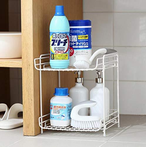 AYMMY Hierro Forjado de Doble Capa de Escritorio de Almacenamiento en Rack baño Cocina artículos para el hogar en Capas...