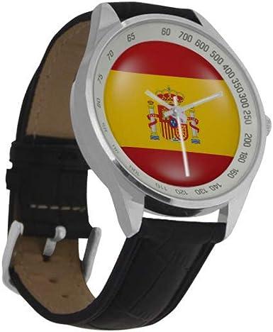 Reloj de Pulsera analógico de Cuarzo con Bandera de España para ...