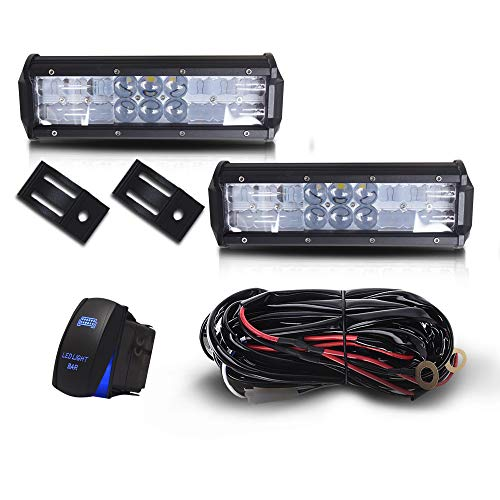 "DOT 9"" Inch 54W Led Light Bar Combo Backup Bumper Reverse Light + 1x Rocker Switch + 1x Wiring Harness for Trailer Boat SUV ATV Truck Jeep Wrangler Dodge Chevy Ford F150 F250 Tractor Toyota Polaris"