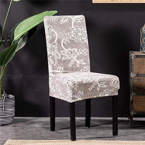 SGHOME Chair Covers Anti-Dirty Washable Refined Spandex Printing Universal Seat for Hotel Banquet Home Wedding Decor ()