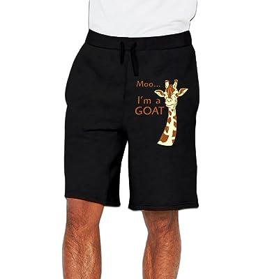 Pyushogn Moo, I'm A Goat Men's Casual Athletics Jogger Short Sweatpants Black