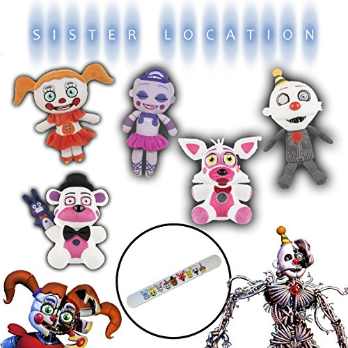 Funko FNAF Five Nights at Freddy's Sister Location Complete Plush Plushies Doll Set & Bracelet - Ennard Ballora Circus Baby Funtime Freddy Fazbear Foxy -  Funko Co.