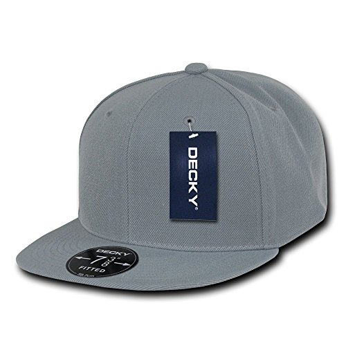 [DECKY Retro Fitted Cap, Grey, 7 3/4] (Hats 4 U)