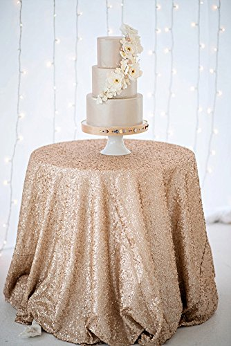 ShinyBeauty Selling Champagne Sequin Tablecloth
