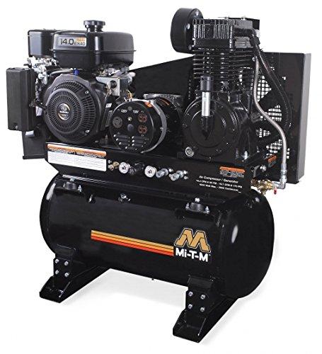 Mi-T-M AG2-SK14-30M Compressor/Generator, 2-Stage Combination, 4000W Maximum AC Output, 30 gal