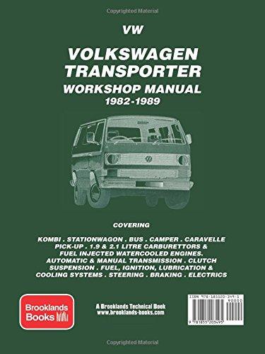 volkswagen transporter workshop manual 1982 1989 owners workshop rh amazon com Volkswagen Transporter Camper Volkswagen Bus Transporter