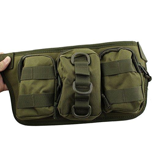 eDealMax Nylon Outdoor Sport Camping Zip Up 4 Vano regolabile supporto del telefono del sacchetto Della vita dell'esercito Verde by eDealMax (Image #1)