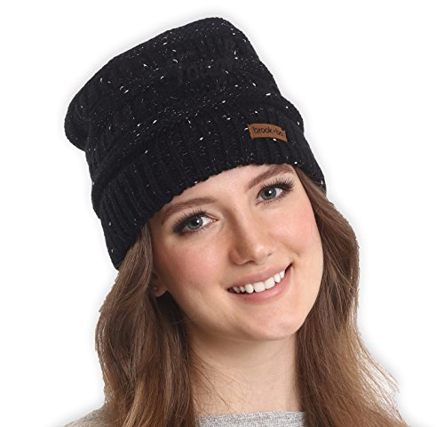 Brook + Bay Cable Knit Multicolored Beanie - Stay Warm & Stylish - Thick, Soft & Chunky Beanie Hats for Women & Men - Serious Beanies for Serious Style