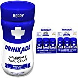 DrinkAde Boost (12 Pack of 3.4 oz Bottles) – Previously Never Too Hungover with Caffeine, Double B-12 – Sugar Free, Gluten Free, Carb Free & Low Calorie.