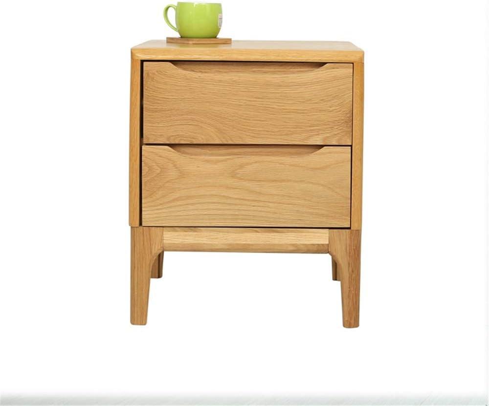 Teerwere Bedside Table cabinets Modern Bedroom Furniture Locker Bedside Table Solid Wood Bedroom Furniture Multifunction Nightstand Retro Bedside Table (Color : Log Color, Size : 42x40x50cm)