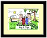 Best Personalized Gifts Buddies Frames - Personalized Friendly Folks Cartoon Print w/Frame - Ready Review