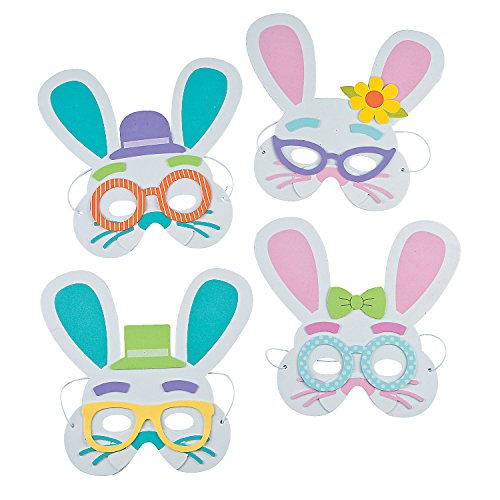 Fun Express - Easter Bunny Mask CK-12 for Easter - Craft Kits - Apparel Craft Kits - Hat & Mask - Easter - 12 Pieces]()