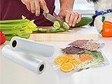 """GERYON Vacuum Sealer Rolls, Vacuum Sealer Bags for Food Saver Storage, 2 Pack 8"""" x 16"""