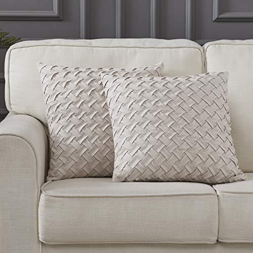 - Longhui bedding Square Throw Pillow Cover, Set of 2 | Cream 18