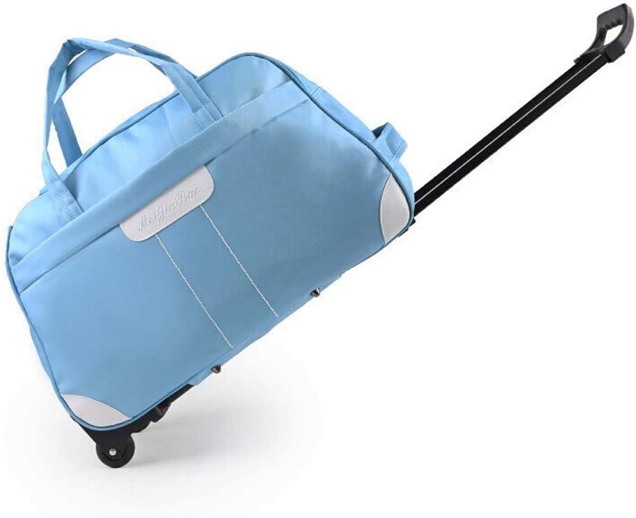 Color : Blue Minmin-lgx Trolley Bag Short-DistanceWaterproof Travel Luggage Bag Men and Women Trolley CaseTrolley Carry-On Luggage Bag