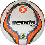 Senda Valor Match Soccer Ball, Fair Trade Certified, Orange/Navy Blue, Size 5 (Ages 13 & Up)
