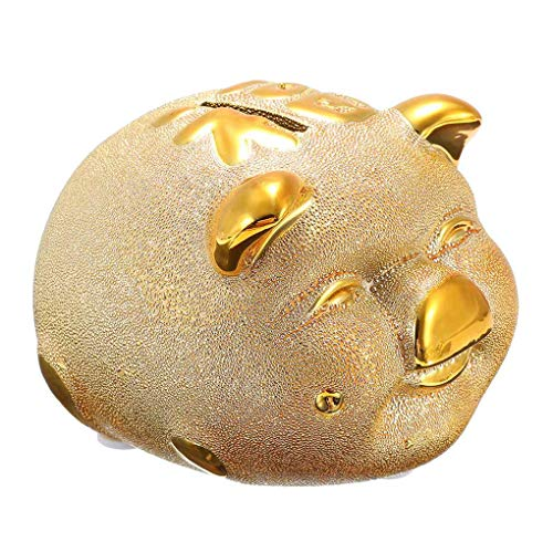 AYUNYUN Ceramic Cartoon Piggy Bank Home Figurine Money Saving Boxes Child Birthday Gifts Toy