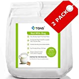 TGNS-2-Pack-Nut-Milk-Bag-12x12-12x9-Strong-Reusable-Almond-Milk-Bags-Commercial-Food-Grade-Fine-Nylon-Mesh-Food-Strainer-Cheese-Maker-Coffee-Tea-Filter