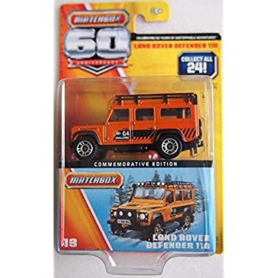 Matchbox 60th Anniversary Land Rover Defender 110 Orange by Matchbox: Toys & Games
